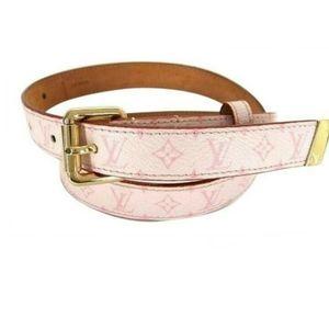 Pink Louis Vuitton belt